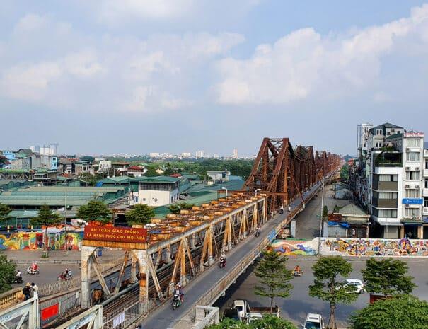 Long Bien broen i hovedstaden Hanoi.