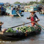Flydende marked i Mekong Deltaet